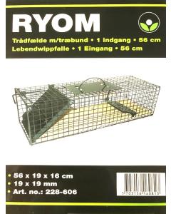 Trådfælde m/Træbund 1 Indg. 56cm