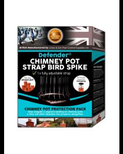 Defender® fågelpiggar för skorstensskydd
