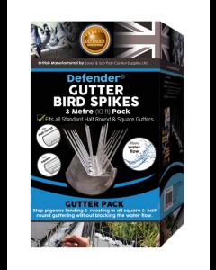 Defender® 3 meter takränna fågelpiggar