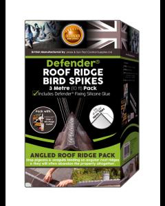 Defender® 3 meter fågelpiggar för takräcken inkl. lim