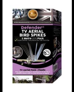 Defender® 3 meter fågelpiggar för TV-antenn