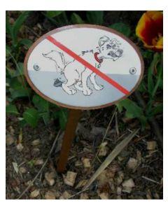 Hundbajs förbjudet-skylt för nedgrävning