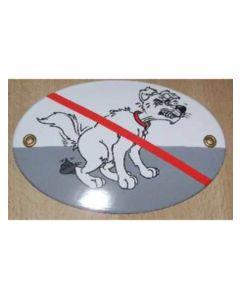 Hundbajs förbjudet-skylt för upphängning