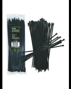 Band-/kabelklämmor svart 100 st. (4,8 X 300 mm)