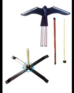 Komplett uppsättning (drake, linje, teleskop, jordbävning och roterande crossfoot)