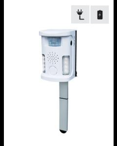 Ultraljudsskrämmare med pir-sensor och blixt samt larm