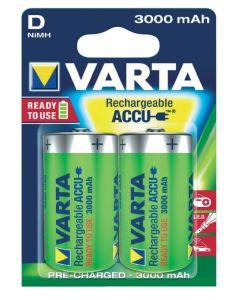 VARTA Power Accu D / R20 / Mono (2 st.) 3000mAh uppladdningsbara batterier