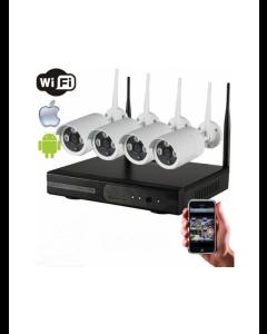 4CH WiFi Kamerasystem 960P (Inklusive 1 TB HDD)