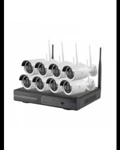8CH WiFi Kamerasystem 960p HD (Inklusive 2TB HDD)